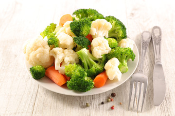 boiled mixed vegetable