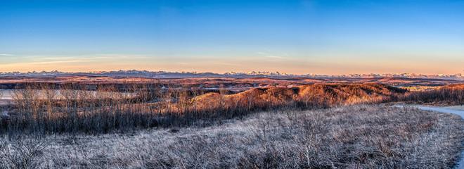 Sunrise over Alberta Foothills Fotobehang