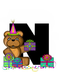 Alphabet Teddy Birthday Surprise N