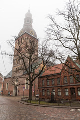 Historical building of Riga Dome Cathedral, Latvia