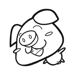 Cute Happy Pig