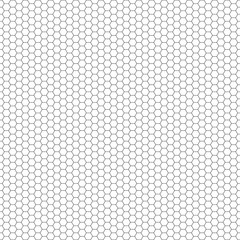 Grid seamless background. Hexagonal cell texture