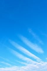 Angel wing - Blue sky with phenomenal white clouds
