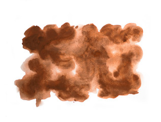 Abstract Brown watercolor on white background, abstract watercolor background, vector illustration