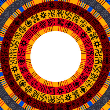 African Adinkra background.