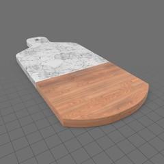 Marble wood cutting board