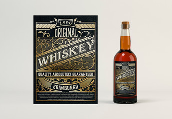 Vintage Whiskey Label Layout