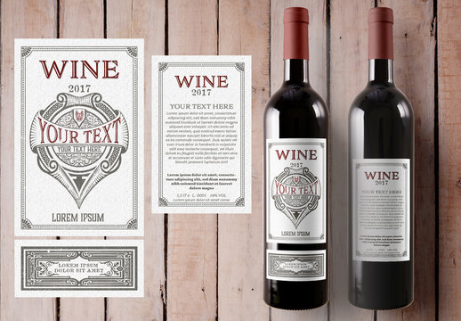 Vintage Wine Label Layout