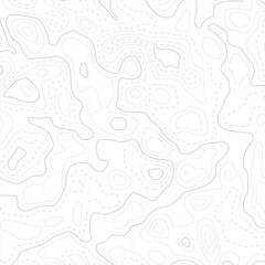 Relief topographic map of the area with high-level contour contours and geodetic grid. Abstract vectror line background.