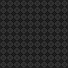 Seamless black abstract linear pattern. Intersecting lines forming floral ornament. Decorative lattice in Arabic style. Tiles, arabesque. Swatch is included in EPS file.