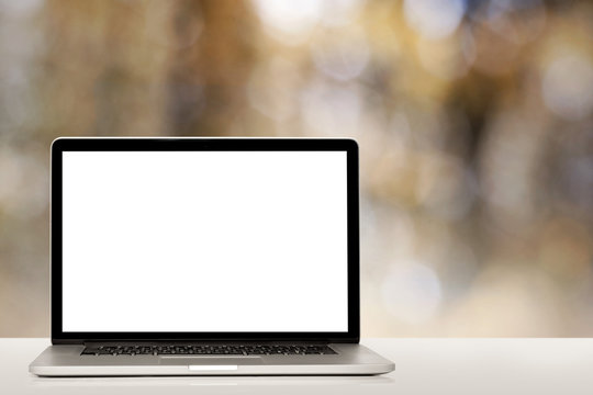 modern laptop computer  isolated on white background