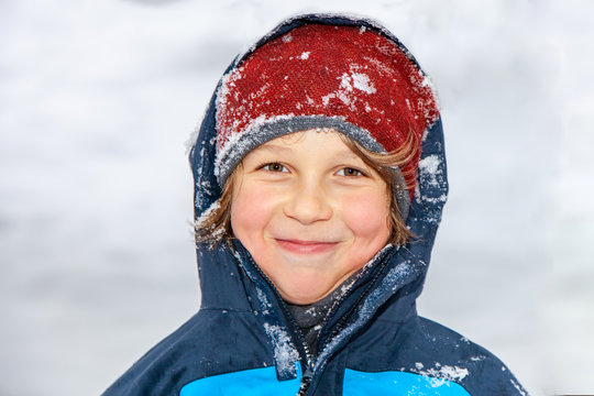 Portrait of a boy in winter