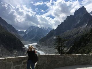 Glacier Mer de Glace, Mont Blanc massif, Alps, France