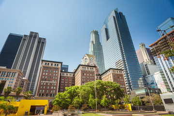 Pershing square in downtown of Los Angeles,