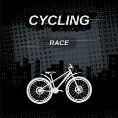 Ctcling race. Vector image.