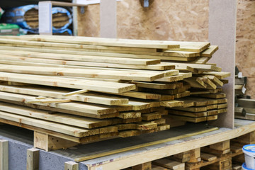 building materials on the shelves in the supermarket