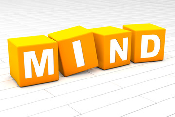 3D rendered illustration of the word Mind.