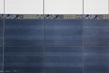 ceramic tiles on the wall in the interior of the house, bathroom, kitchen or pool