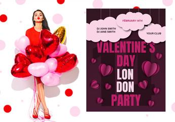 Valentine's Day Flyer Layout