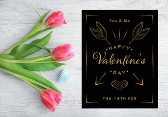 Gold Glitter Valentine's Day Flyer Layout