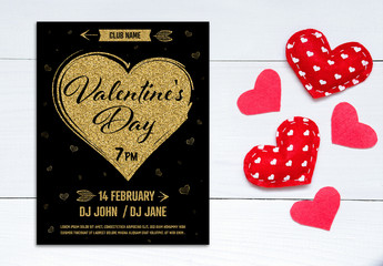 Valentine's Day Flyer Layout