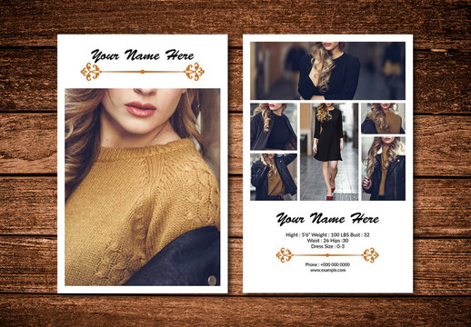 Model Comp Card Layout