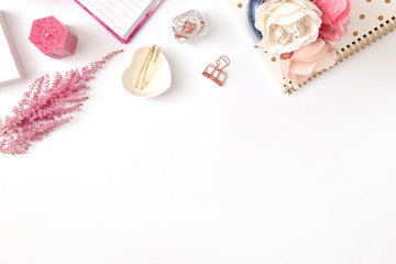 Styled photo - white, soft pink