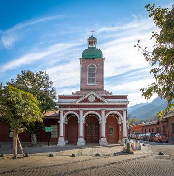 Church in San Jose de Maipo town at Cajon del Maipo - Chile