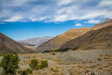 Cajon del Maipo Canyon landscape - Chile
