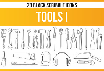 Scribble Black Icon Set Tools I