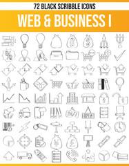 Scribble Black Icon Set Web & Business I