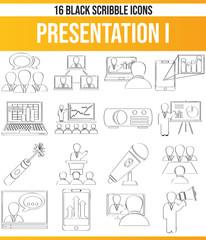 Scribble Black Icon Set Presentation I