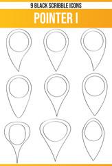 Scribble Black Icon Set Pointer I