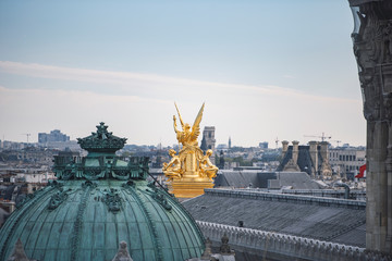 Paris view from Lafayette's Gallery rooftop.
