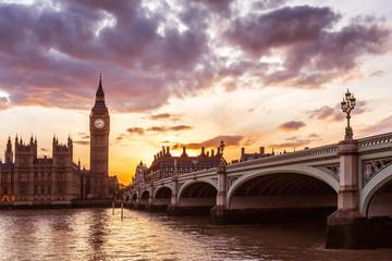 Big Ben Clock Tower and River Thames, London, United Kingdom