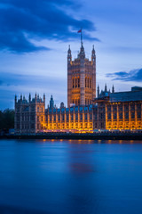 Houses of Parliament and River Thames, London, United Kingdom