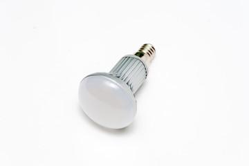 Energy saving LED light with bulb E27. Image on white background