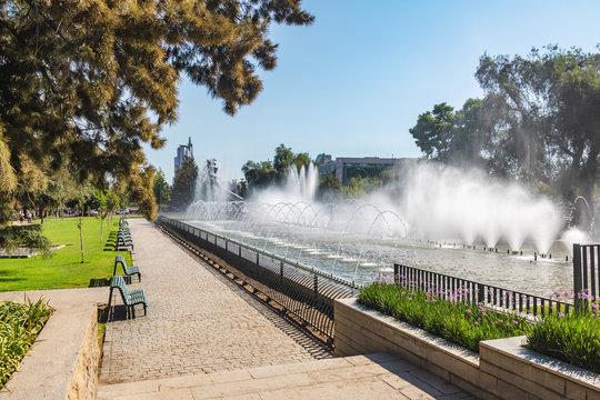 Aviation Square (Plaza a la Aviacion) fountain - Santiago, Chile