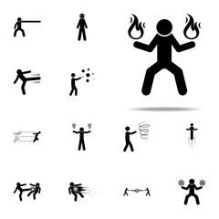 super power, fire icon. special human powerful icons universal set for web and mobile