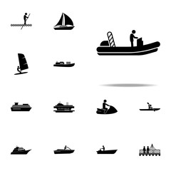 boat, motor icon. water transportation icons universal set for web and mobile