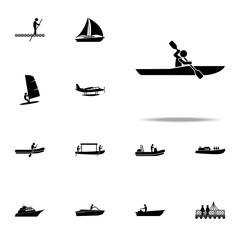 kayak, oar icon. water transportation icons universal set for web and mobile