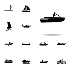 motor, boat, speed icon. water transportation icons universal set for web and mobile
