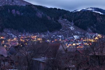 Gura Raului village in Sibiu Transylvania Romania