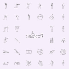 Submarine icon. Army icons universal set for web and mobile