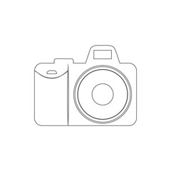 camera icon. Element of Electro for mobile concept and web apps icon. Thin line icon for website design and development, app development