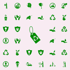 rework tag green icon. greenpeace icons universal set for web and mobile