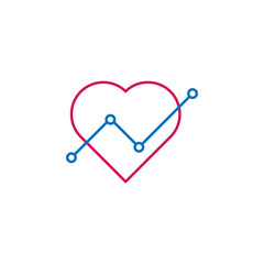 heart, love, relatioship, steps icon. Element of romance for mobile concept and web apps illustration. Thin color line icon for website design and development, app development