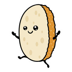 Cartoon Dancing Slice of Bread Character