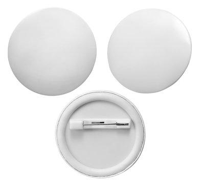 Blank badge isolated on white