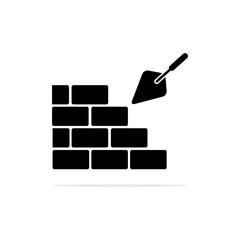 Cement Plaster Construction icon. Vector concept illustration for design.